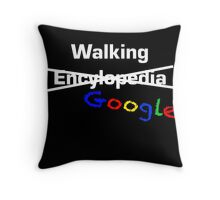 Walking Google Throw Pillow