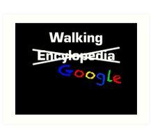 Walking Google Art Print