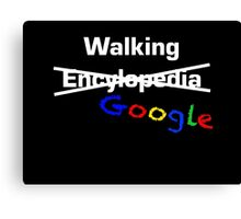 Walking Google Canvas Print