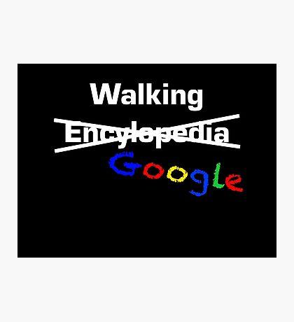 Walking Google Photographic Print
