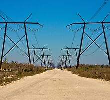 Powerlines on the Fringe by njordphoto