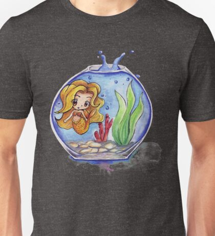 Little Mermaid in a Fishtank Unisex T-Shirt