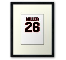 NFL Player Lamar Miller twentysix 26 Framed Print