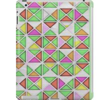 7 DAYS OF SUMMER- GREEN GEOMETRIC PILLOWS AND TOTES iPad Case/Skin