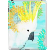 7 DAYS OF SUMMER /SUMMER COLLECTION-TEAL MAJOR MITCHELL COCKATOO iPad Case/Skin