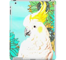 7 DAYS OF SUMMER /SUMMER COLLECTION-COCKATOO KISS IN TEAL iPad Case/Skin