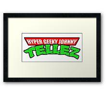 Hyper Geeky Johnny Tellez logo Framed Print