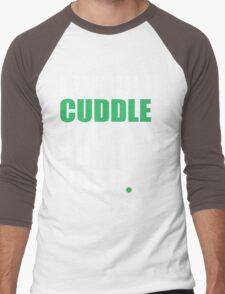 cuddle (wht/grn) Men's Baseball ¾ T-Shirt