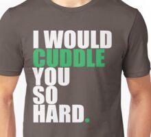 cuddle (wht/grn) Unisex T-Shirt