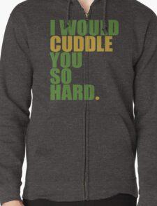 cuddle (must/grn) Zipped Hoodie