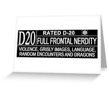 This Gamer is Rated D20 Greeting Card