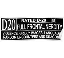 This Gamer is Rated D20 Poster