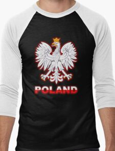 Poland - Polish Coat of Arms - White Eagle Men's Baseball ¾ T-Shirt