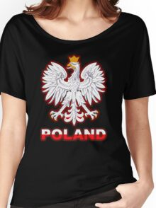 Poland - Polish Coat of Arms - White Eagle Women's Relaxed Fit T-Shirt