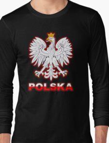Polska - Polish Coat of Arms - White Eagle Long Sleeve T-Shirt