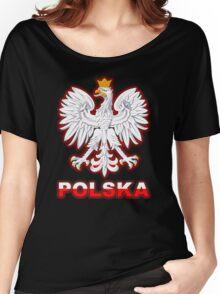 Polska - Polish Coat of Arms - White Eagle Women's Relaxed Fit T-Shirt