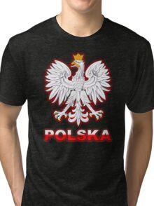 Polska - Polish Coat of Arms - White Eagle Tri-blend T-Shirt