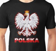 Polska - Polish Coat of Arms - White Eagle Unisex T-Shirt