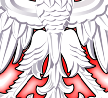 Polska - Polish Coat of Arms - White Eagle Sticker