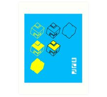 Cubes of the Line Art Print