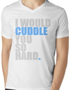 cuddle (blue) Mens V-Neck T-Shirt