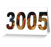 3005 Greeting Card