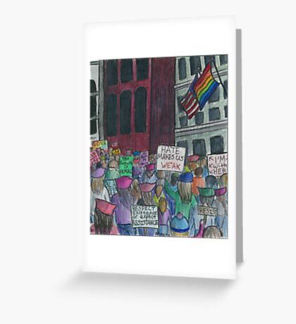 Stronger Together - Women's March 2017 Greeting Card