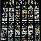 East end stained glass Malvern Priory Great Malvern England 198405180065 by Fred Mitchell
