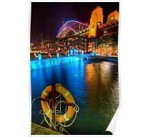 Vivid Sydney in Walsh Bay Poster