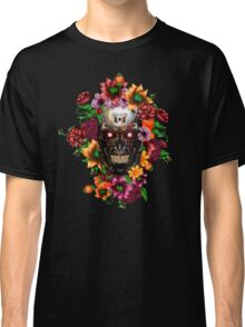Day of the dead sugar steel Chrome skull with flower Classic T-Shirt