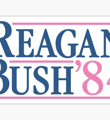 Reagan Bush 84 Pink Preppy Republican Sticker