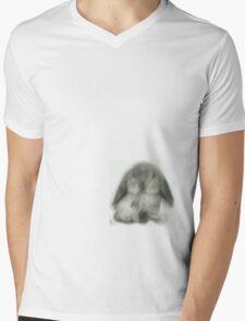 Little Bunny Mens V-Neck T-Shirt