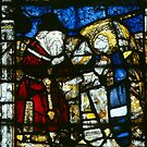 Stained glass Malvern Priory Greater Malvern England 198405180073 by Fred Mitchell