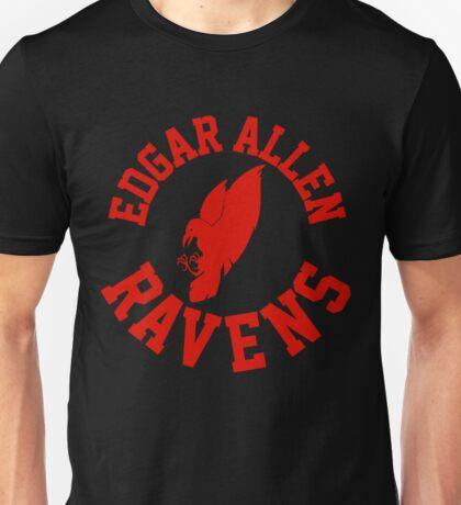 edgar allen circle crest red Unisex T-Shirt
