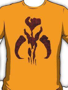 Boba Fett Symbol Mandalorian Mythosaur Skull T-Shirt