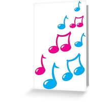 Cute musical notes Greeting Card