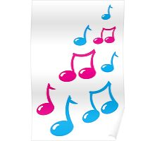 Cute musical notes Poster