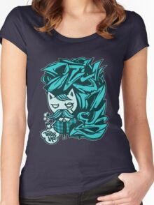 Tally-Ho! Blue Women's Fitted Scoop T-Shirt