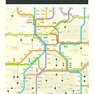 UTAH MAP by JazzberryBlue