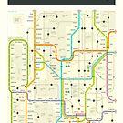 WASHINGTON MAP by JazzberryBlue