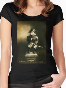 Little Nap The Napoleon of the Chimpanzee World! Women's Fitted Scoop T-Shirt