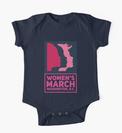Pink Women's March One Piece - Short Sleeve