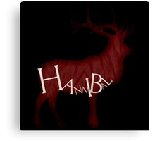 Bloody Stag Canvas Print