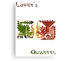 Monster Hunter- Lover's Quarrel Canvas Print