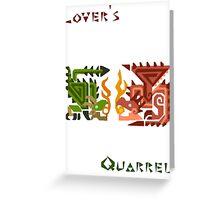 Monster Hunter- Lover's Quarrel Greeting Card