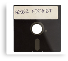 Never Forget Computer Floppy Disks Metal Print