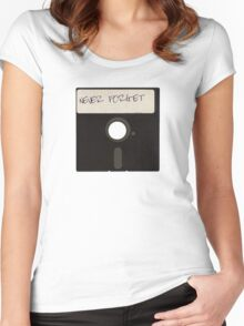 Never Forget Computer Floppy Disks Women's Fitted Scoop T-Shirt