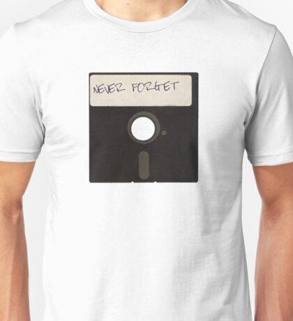 Never Forget Computer Floppy Disks Unisex T-Shirt