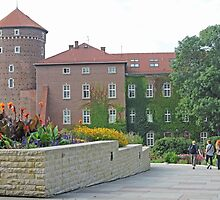 Gardens at Wawel Castle by Graeme  Hyde