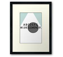 ABC's Framed Print